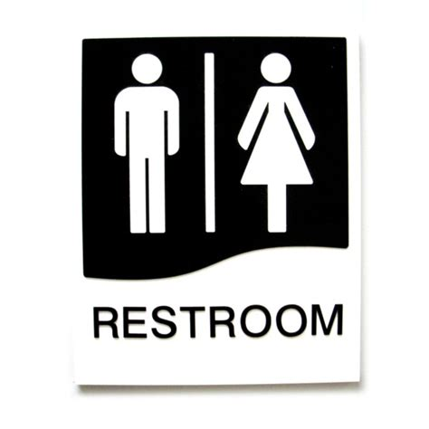 Restroom Door Sign With Braille  Bc Site Service