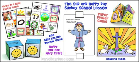 easter bible lesson quot the sad and happy day quot for children 393 | sad happy day lesson