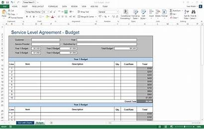 Sla Excel Template Agreement Service Level Templates