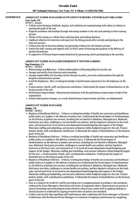 Resume For Assistant Manager Position by Manager Resume Exles Tipsense Me