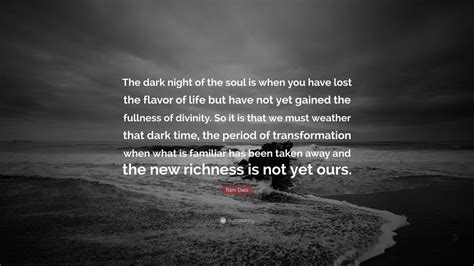 ram dass quote  dark night   soul