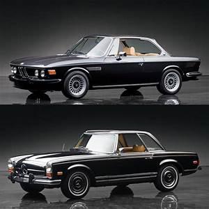 Coupe Mercedes : classic car face off bmw 3 0 cs coupe vs mercedes benz 280sl pagoda ~ Gottalentnigeria.com Avis de Voitures