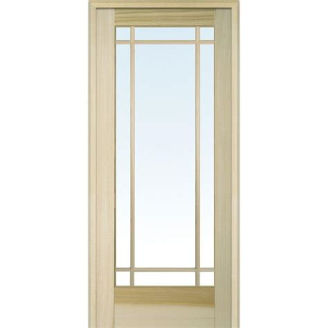 home depot interior glass doors builder 39 s choice 48 in x 80 in 10 lite clear wood pine