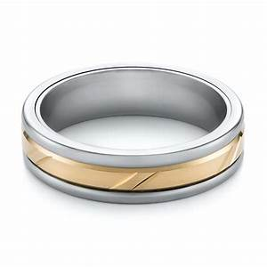 grey tungsten and 14k yellow gold men39s wedding ring 103924 With grey wedding rings