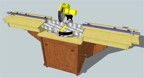 portable table saw stand plans free miter saw station jeff branch woodworking