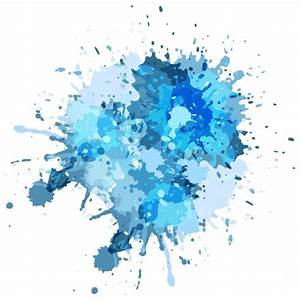 Blue watercolor splash background Vector | Free Download