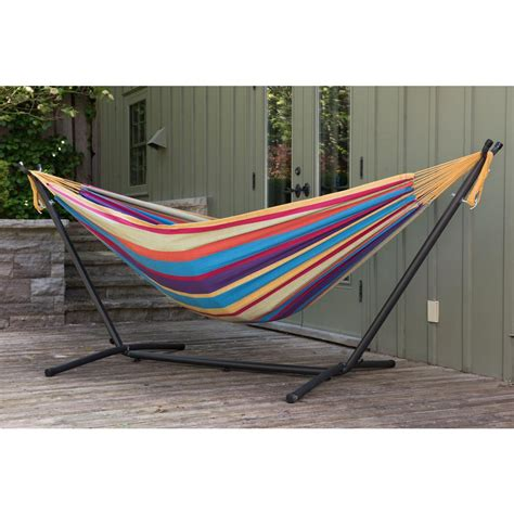 Hammock Stand Indoor by Vivere 9 Ft Cotton Hammock With Stand In Tropical