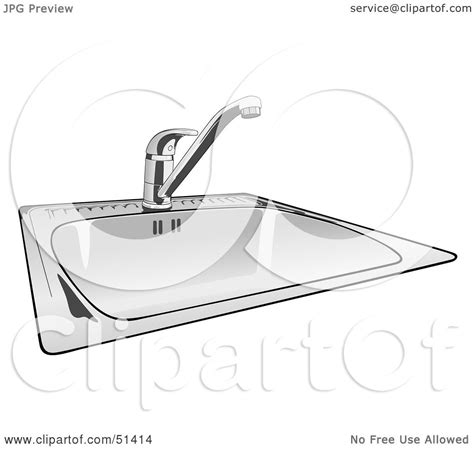 frog in the kitchen sink song royalty free rf clipart illustration of a shiny new 8288