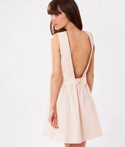 robe decollete dos et noeud novela nude etam With robe temoin rose pale