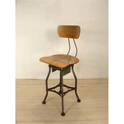 Vintage Drafting Stool Toledo Metals Bent Plywood