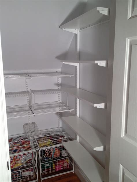 Open shelving, cubby holes, bins on castors and racks on the inside of doors are all fittings that will. Best Of Under Stairs Storage Closet Shelving Pantry Ideas Pantry under the stairs Like the wi ...