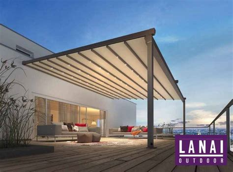 retractable canopies pergolas supplied lanai outdoor
