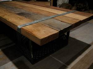 Homemade Coffee Table Ideas Photograph wood + metal sc