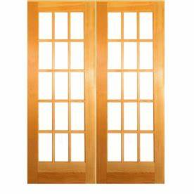 reliabiltaa 15 lite french solid core pine reversible With 36 x 80 french door