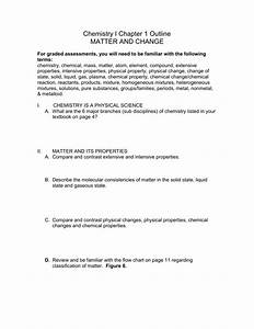 Chapter 1 Worksheet Classification Of Matter And Chemical