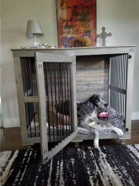 finally    beautiful indoor dog kennel  great danes   large dogs