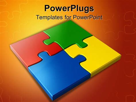 powerpoint template colored puzzles