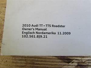 Audi Tt Mk2 8j Oem Owner U0026 39 S Manual Guide Book 1025618j921