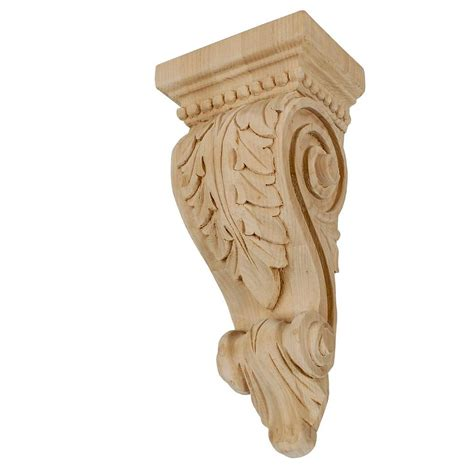 Carved Wood Corbels by American Pro Decor 14 5 8 In X 6 3 8 In X 4 5 8 In