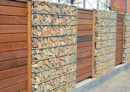 Wäschekörbe Aus Holz by Gabionenzaun Mit Holz Gabionenzaun Ideen 30 Varianten Aus