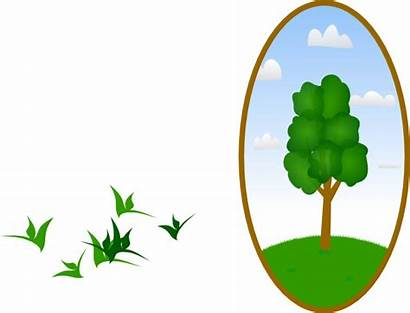 Landscape Tree Clip Oval Clipart Clker Vector
