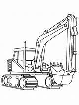 Digger Coloring Moving Parts Craft Template Excavator Pages sketch template