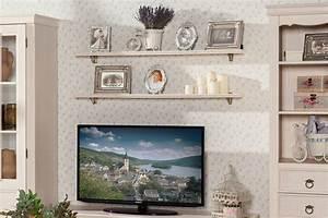 Amelie Wohnwand Set Landhausstil In Creme Weiss 6 Teilig