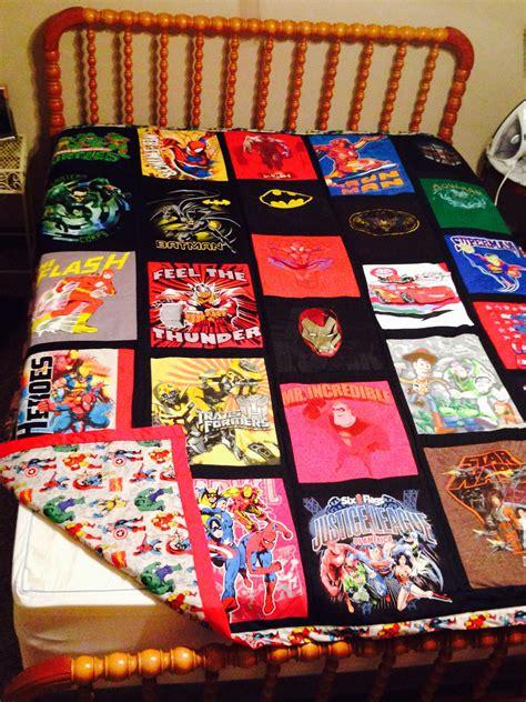 tshirt super heros quilt avengers backing superhero