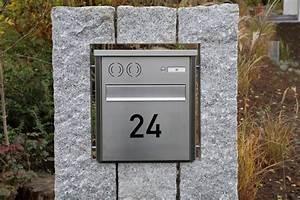 Briefkasten Mit Klingel Gegensprechanlage Und Kamera : briefkasten in natursteinstelen ~ Frokenaadalensverden.com Haus und Dekorationen