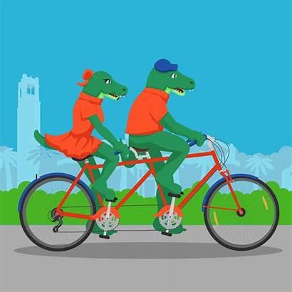 Florida University Bicycle Ride Bike Tandem Gifs