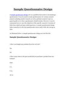 Design Research Questionnaire Sample
