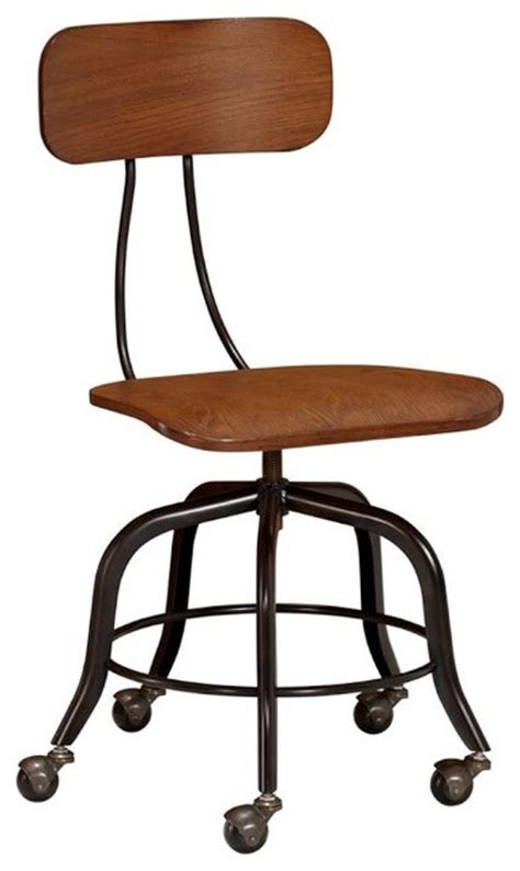 vintage wood swivel chair traditional office chairs