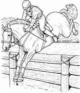 Coloring Horse Adults Jumping Printable Spirit Race Horses Colouring Sheets Realistic Popular Coloringhome sketch template