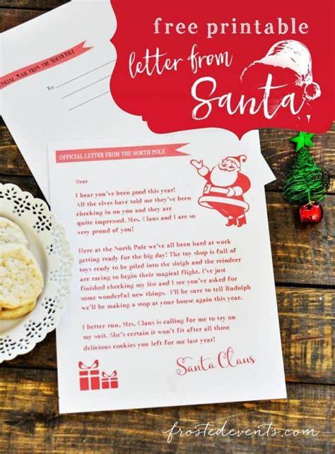 printable letters  santa templates