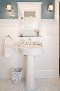 Bathroom Wainscoting Ideas Cottage Bathrooms Cottage Bathrooms Decorating Ideas Pedestal Powder And