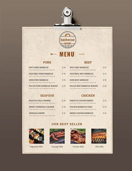 menu templates   ms word excel psd
