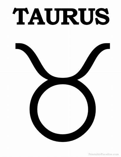 Taurus Zodiac Sign Printable Signs Symbols Symbol