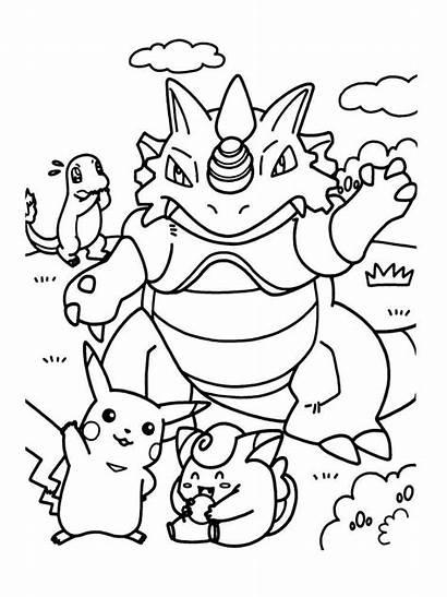 Pokemon Coloring Pages Printable Cartoon Cartoons Bright