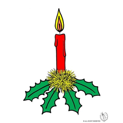 immagini di candele di natale disegno di candela di natale a colori per bambini