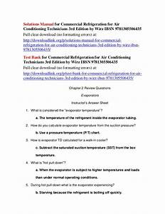 Solutions Manual For Commercial Refrigeration For Air