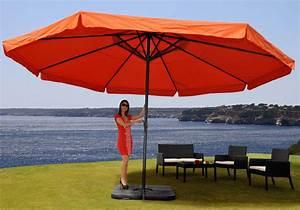 alu sonnenschirm meran pro gastro mit volant o5m With französischer balkon mit profi sonnenschirm