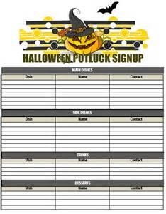Free Halloween Potluck Sign Up Sheet Templates by 10 Halloween Potluck Signup Sheets Printable Word