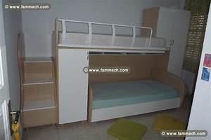 Lit Enfant Double : bonnes affaires tunisie maison meubles d coration chambre enfant double lit ~ Teatrodelosmanantiales.com Idées de Décoration