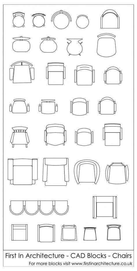 Free Cad Blocks - Chairs | 机 | Möbeldesign、Architektur、Design