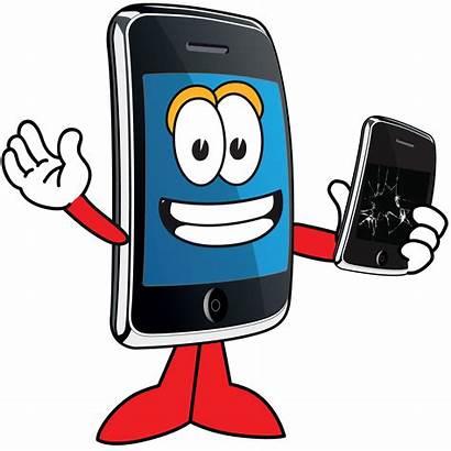 Phone Mobile Cartoon Cell Clipart Repair Clip