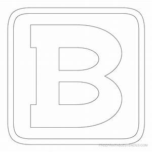 printable block letter stencils free printable stencils With block letter stencil templates