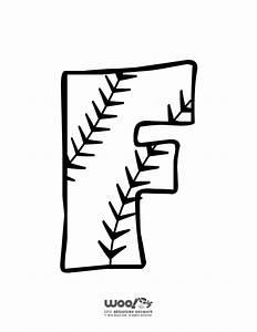 baseball alphabet letter f woo jr kids activities With baseball alphabet letters