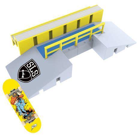 tech deck sls pro series skate park fun box with rail