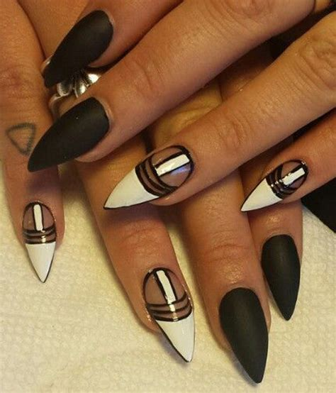 55 Black and White Nail Art Designs - nenuno creative