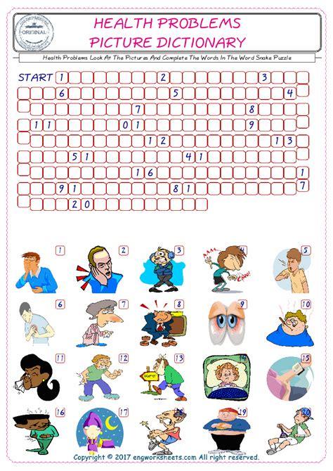 health problems esl printable english vocabulary worksheets